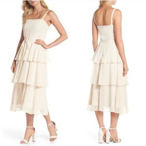 Gal Meets Glam Florence Chiffon Embroidered Dress